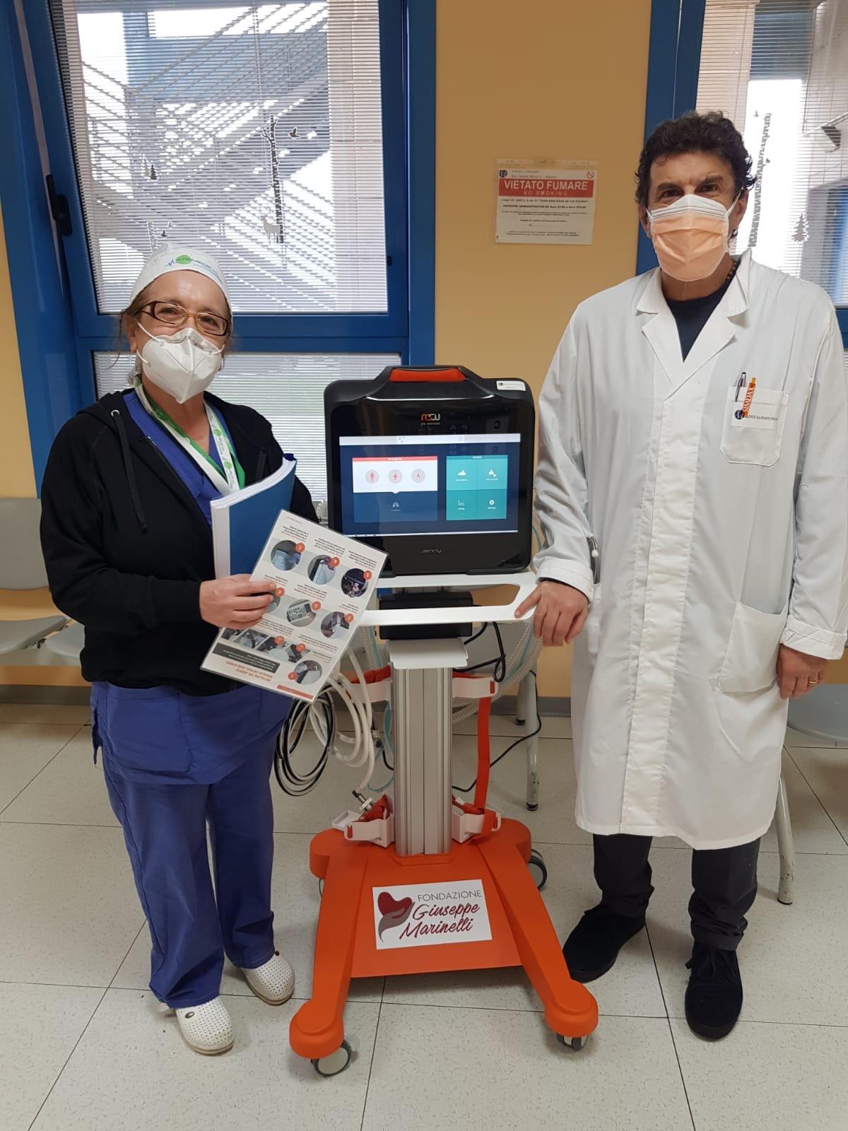 Consegnato il primo ventilatore polmonare